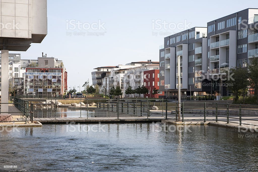 Western Harbour, Malmoe Sweden stock photo