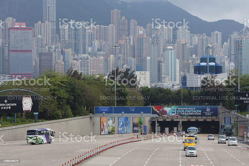 Western Harbour Tunnel, Hong Kong stock photo