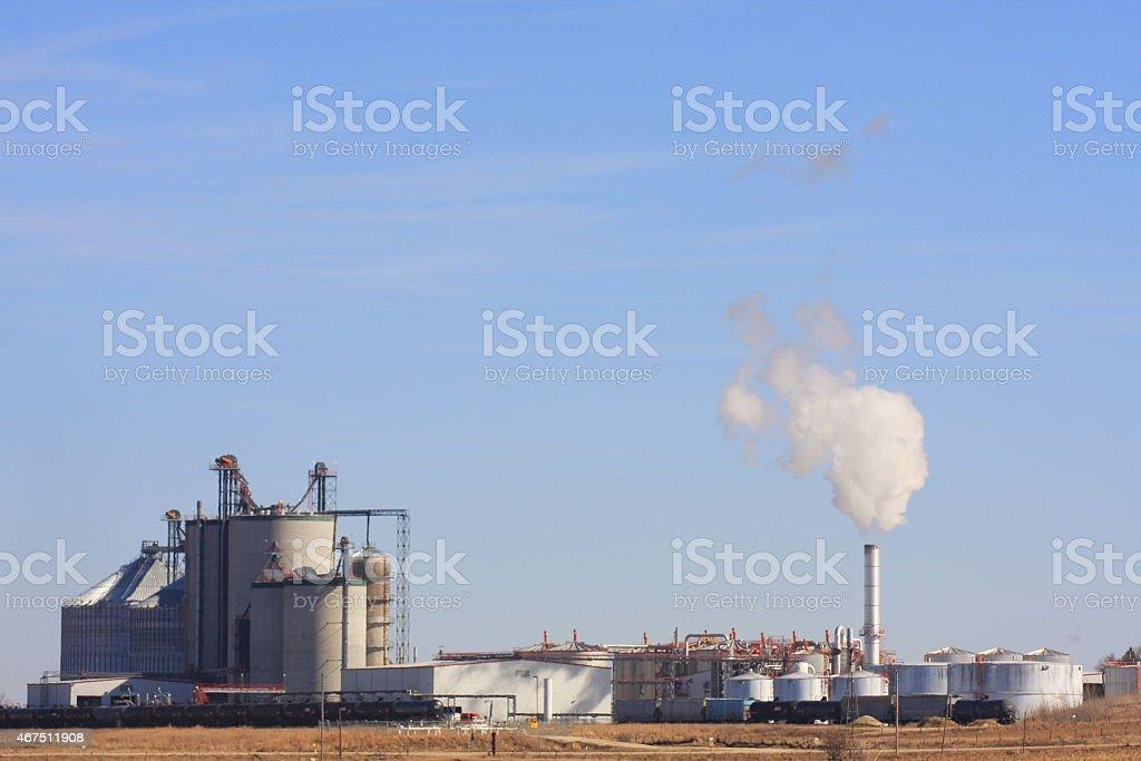 Western Iowa Ethanol Plant stock photo