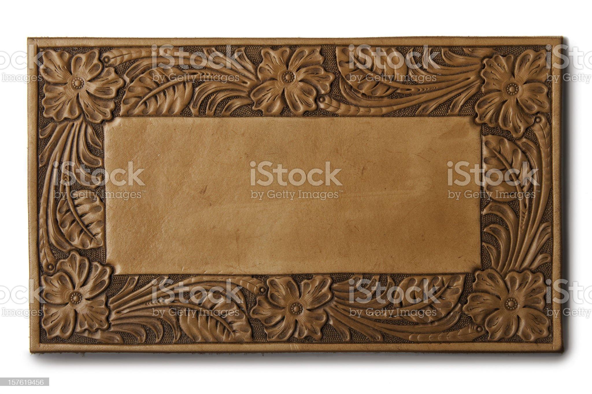 western leather background royalty-free stock photo