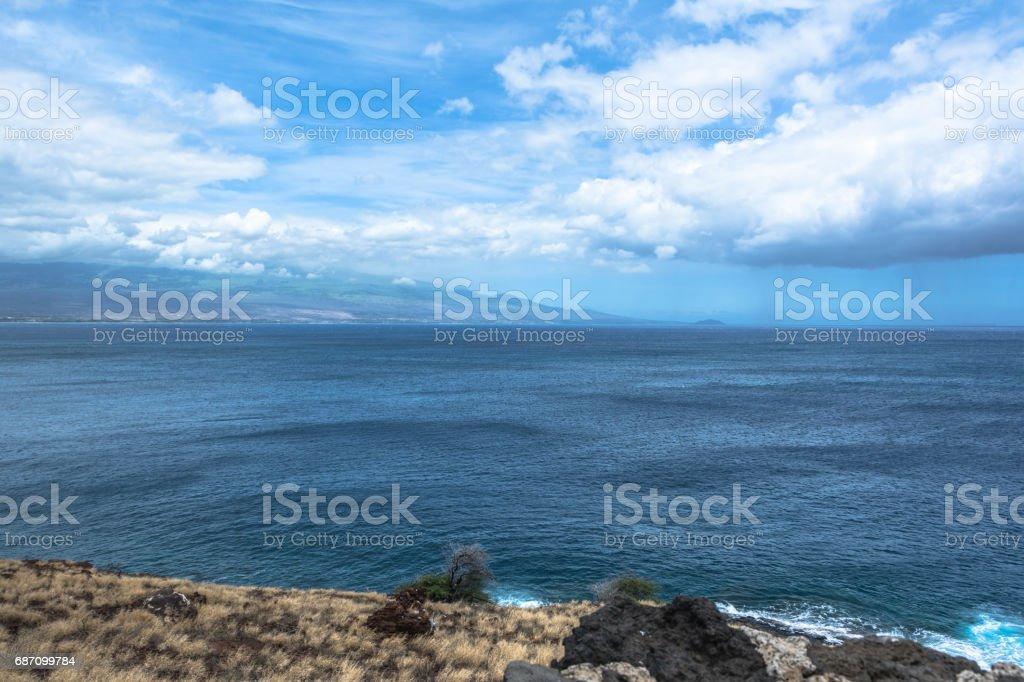 Western Maui coast, Hawaii stock photo