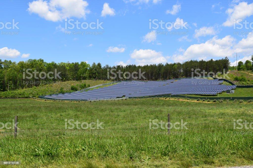 Western NC farm grazing pasture stock photo