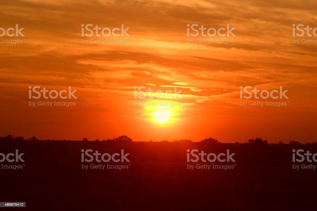 Western Oklahoma coucher du soleil photo libre de droits