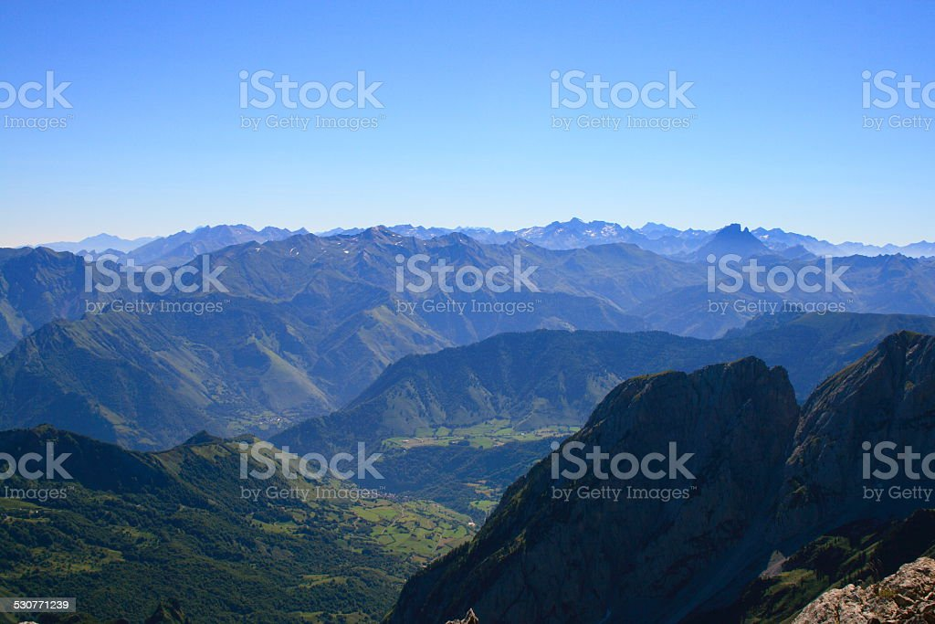 Western Pyrenees view stock photo