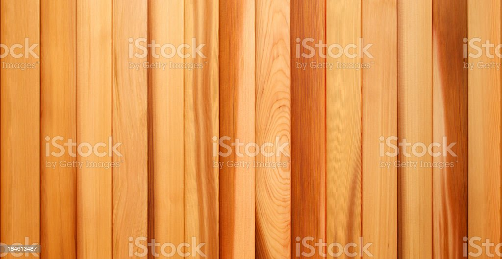 Western Red Cedar Timber Panelling stock photo