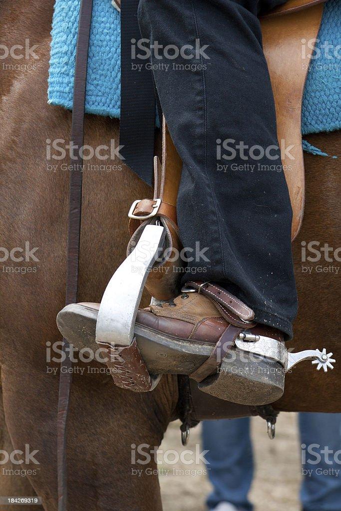 Western rider stock photo