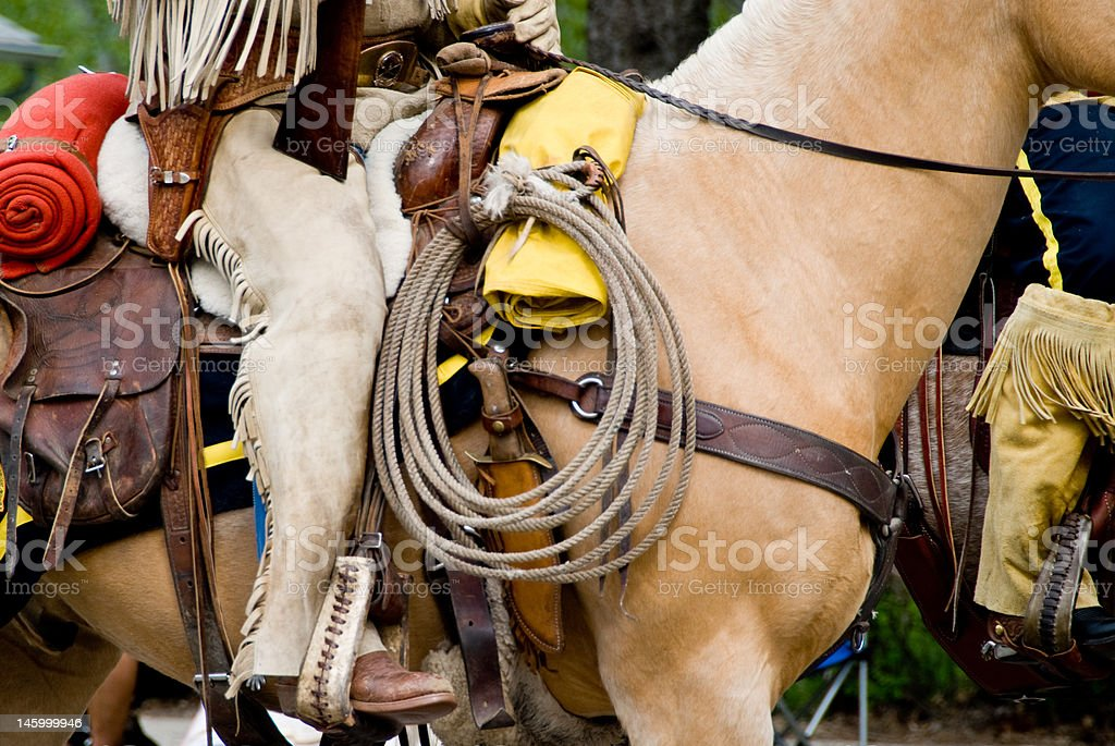 Western Riding Gear stock photo