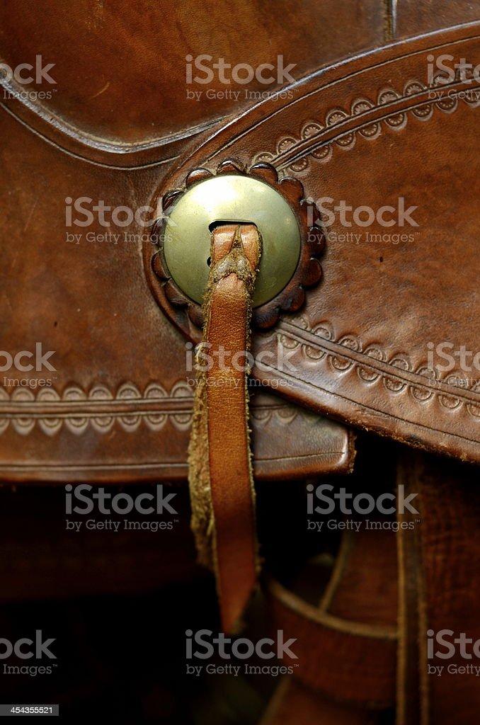 Western Saddle Detail royalty-free stock photo
