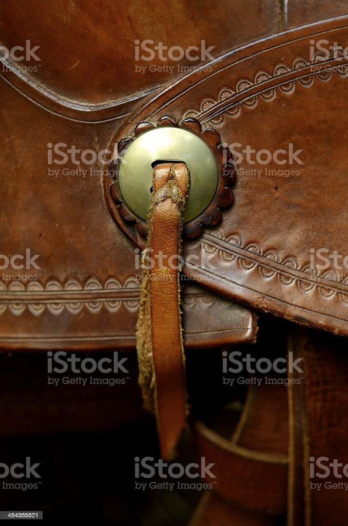 Western Saddle Detail stock photo