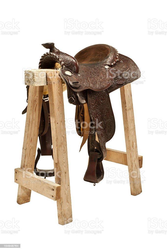 Western Saddle royalty-free stock photo