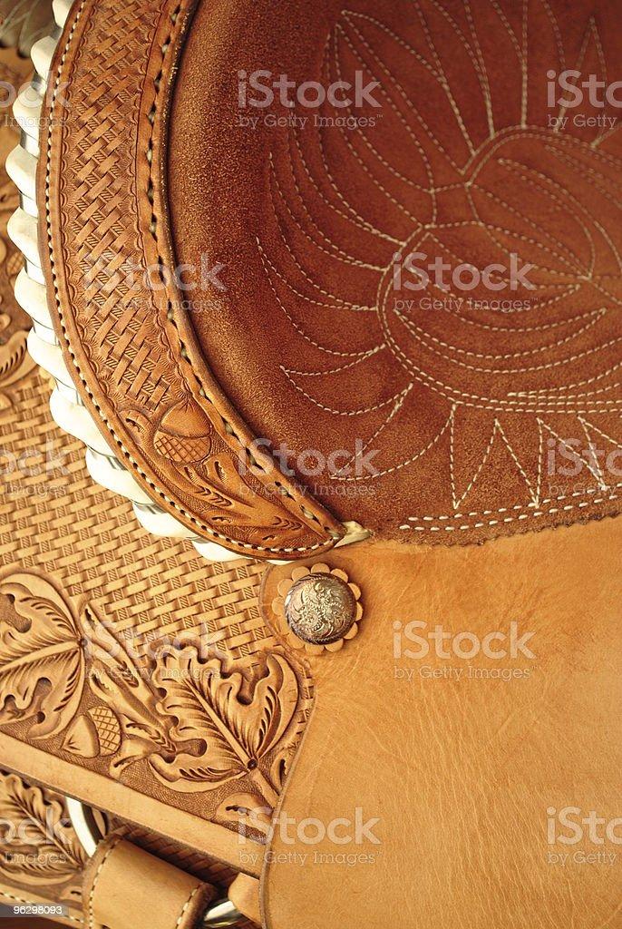 western saddle stock photo