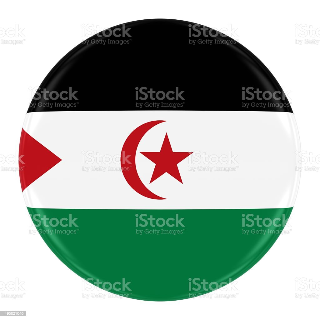 Western Sahara Flag Badge stock photo