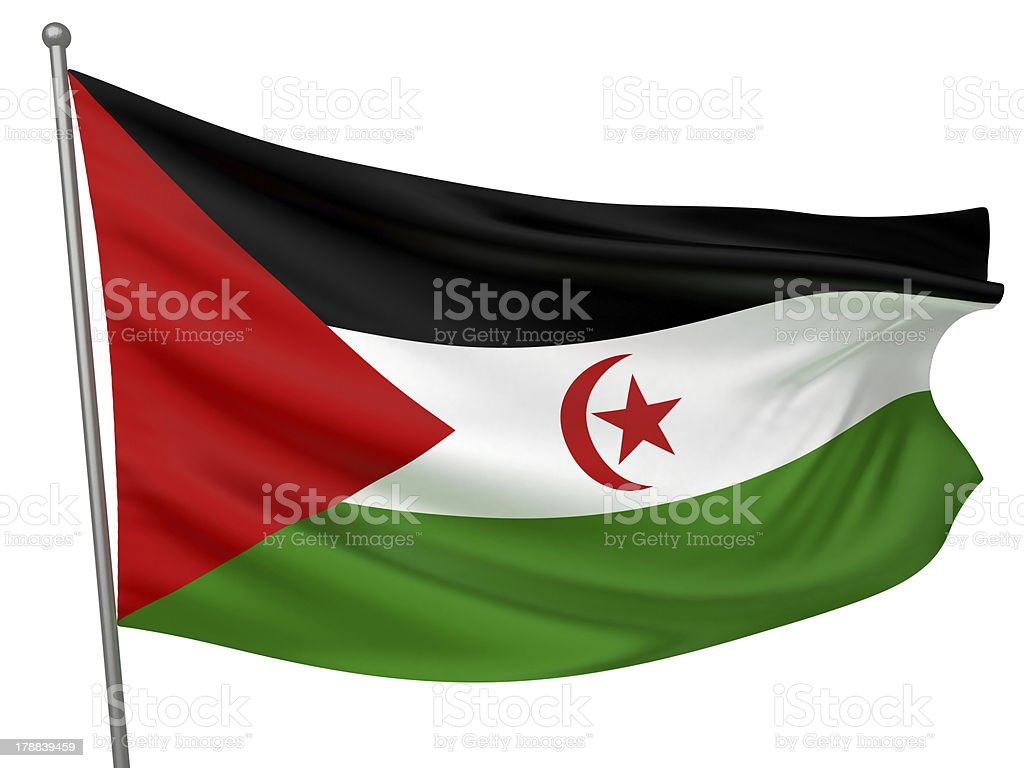 Western Sahara (Sahrawi Arab Democratic Republic) National Flag stock photo
