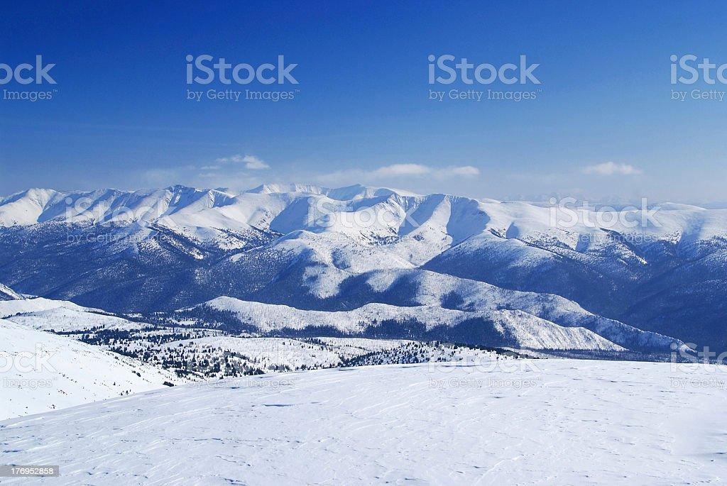 Western Sayan mountains. royalty-free stock photo