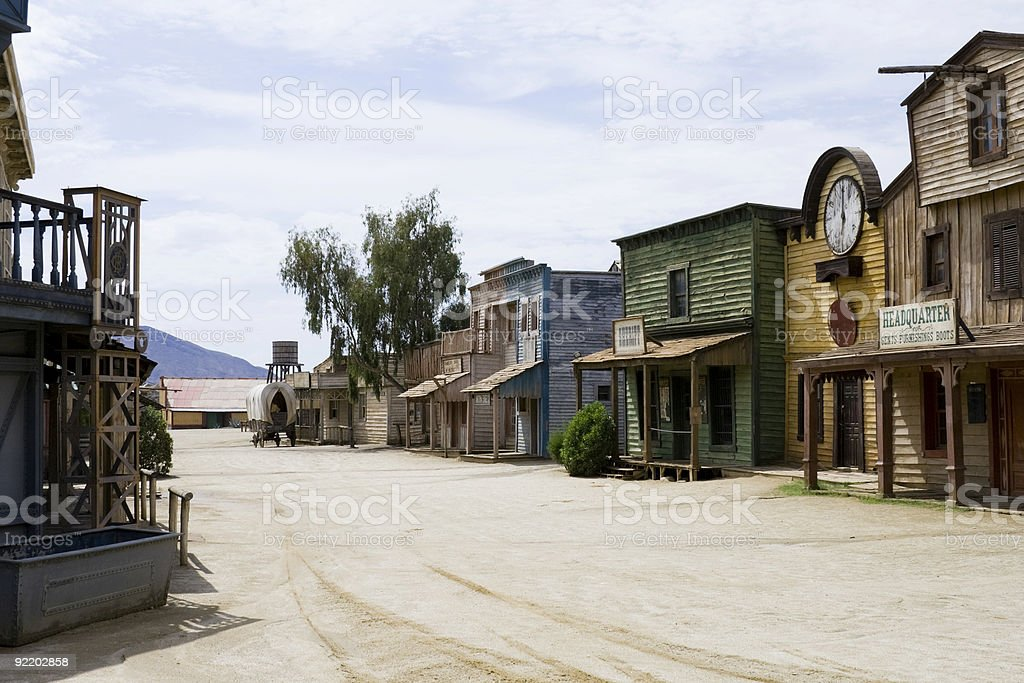 Western scenery stock photo