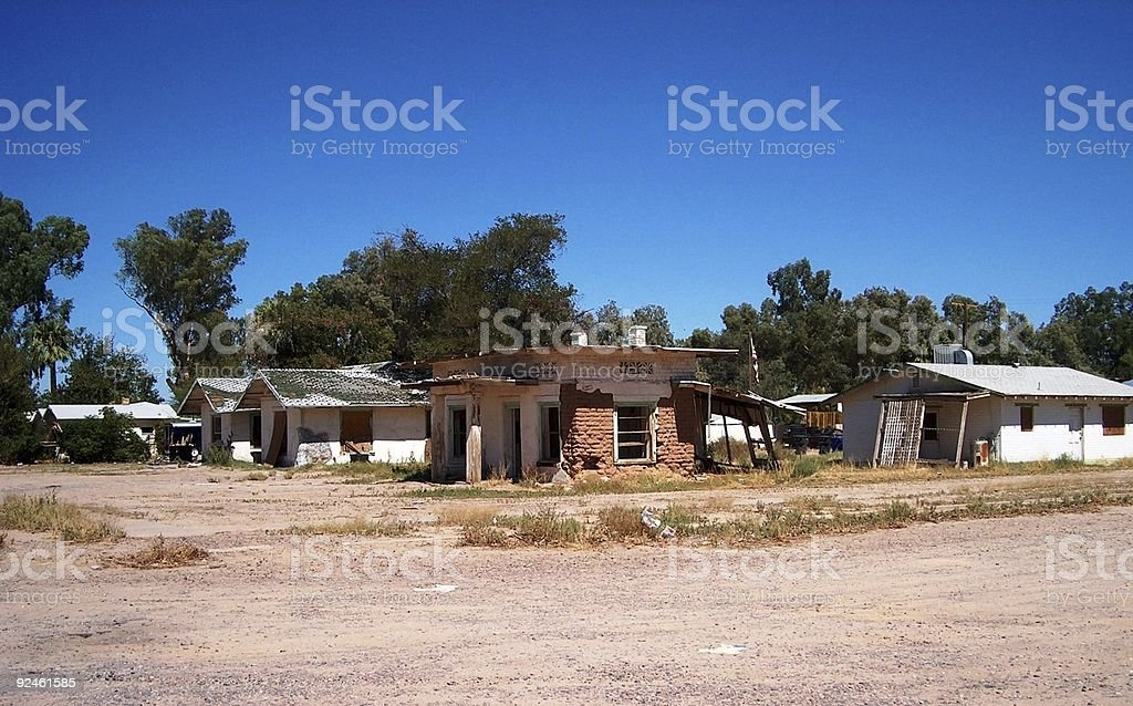 Western Shanty Town royalty-free stock photo
