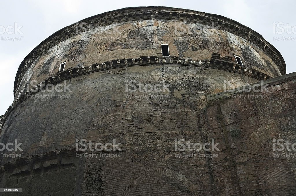 Western Side of the Pantheon, Rome, Italy royalty-free stock photo