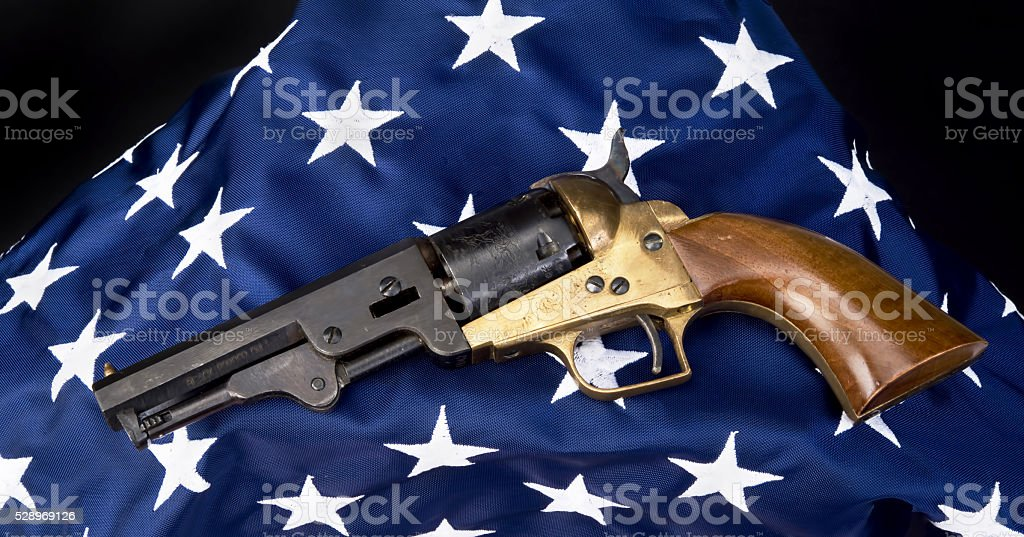 Western Six Shooter. stock photo