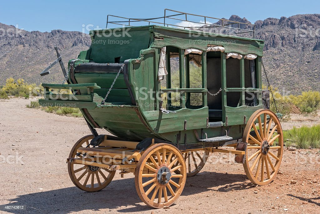 Western Stage Coach stock photo