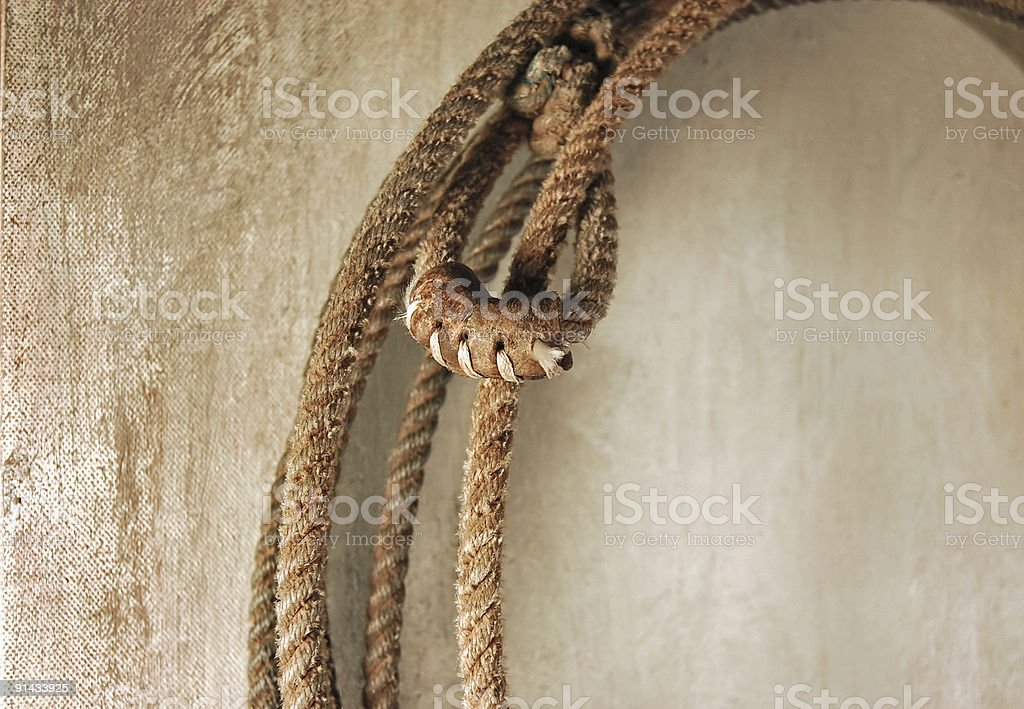 Western Style Cowboy Lasso Knot stock photo