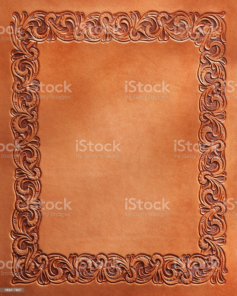 Western Style Stamped Leather stock photo