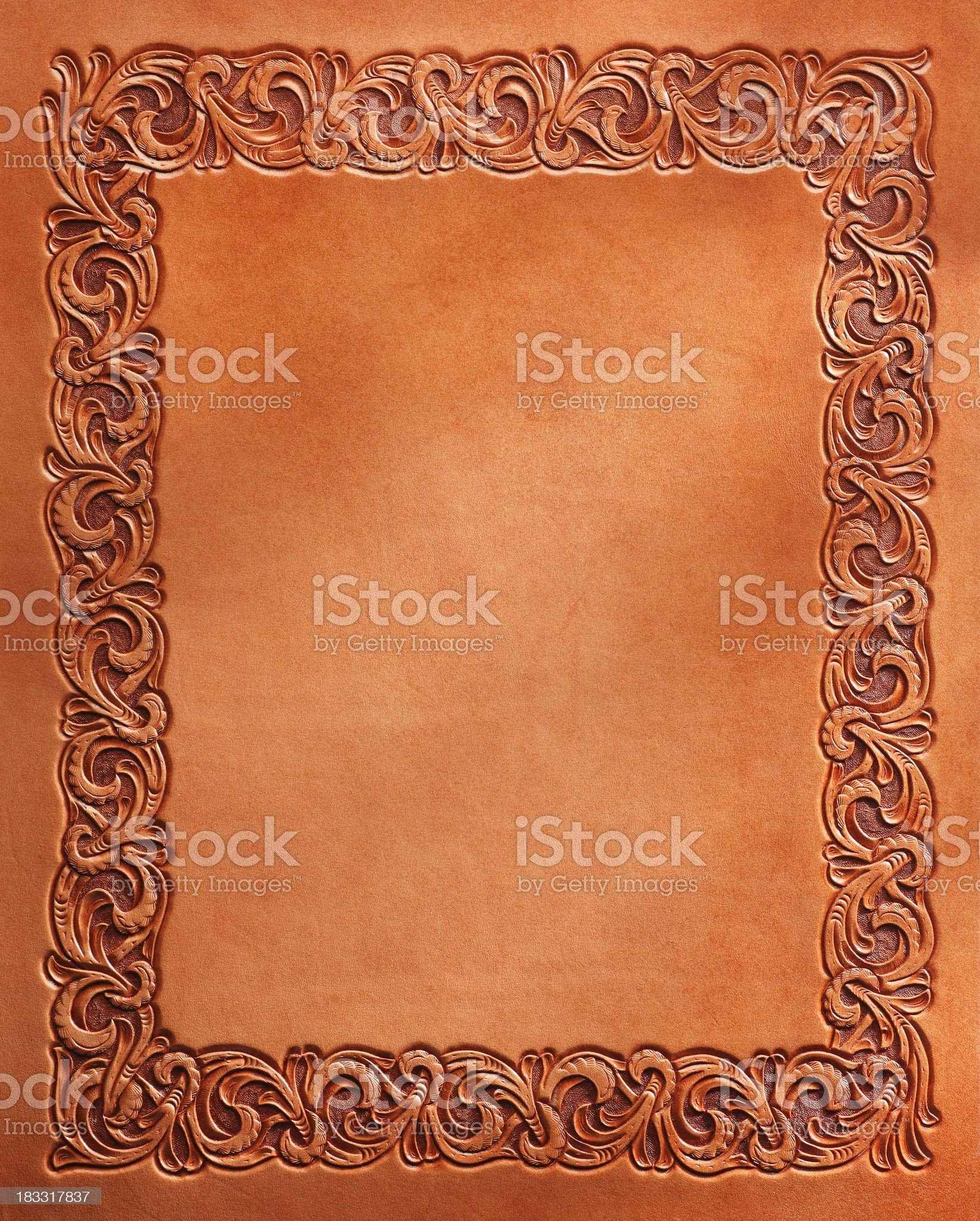 Western Style Stamped Leather royalty-free stock photo