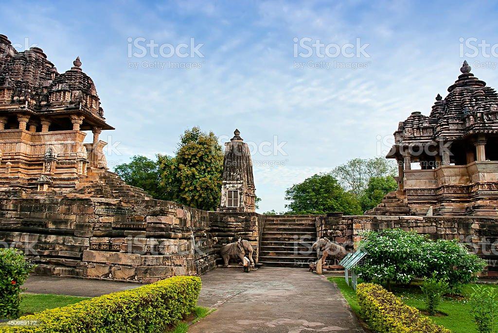 Western Temples of Khajuraho, India stock photo