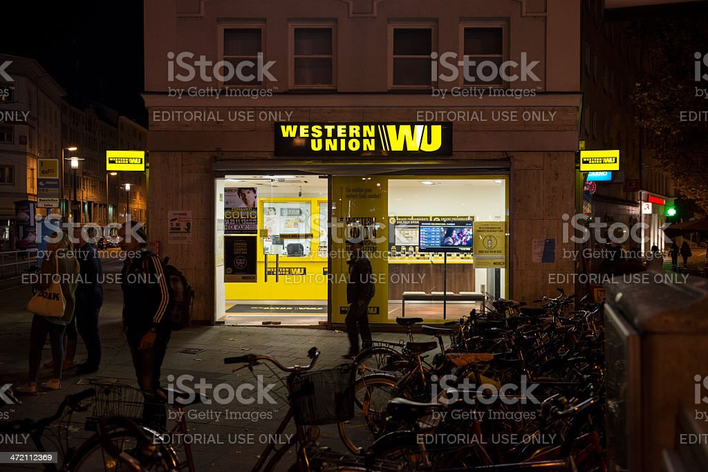 Western Union office in Germany stock photo