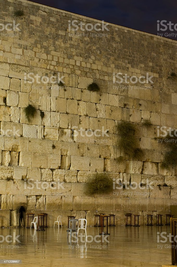 Western wall at night royalty-free stock photo