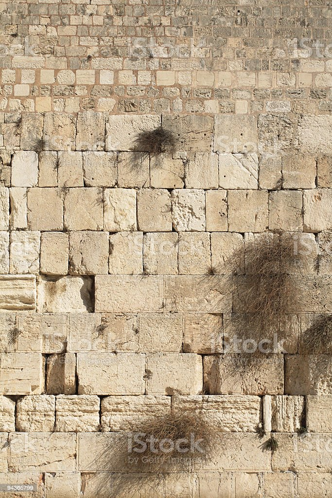 Western wall background royalty-free stock photo