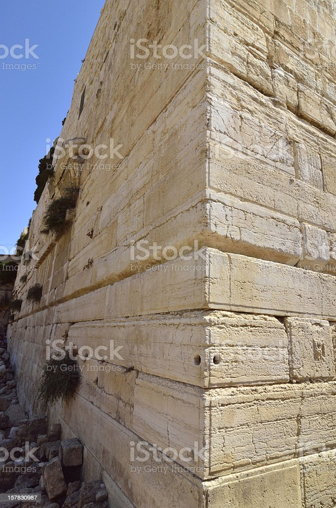 Western Wall corner, Jerusalem. royalty-free stock photo