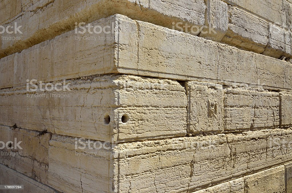 Western Wall corner, Jerusalem. royalty-free stock photo