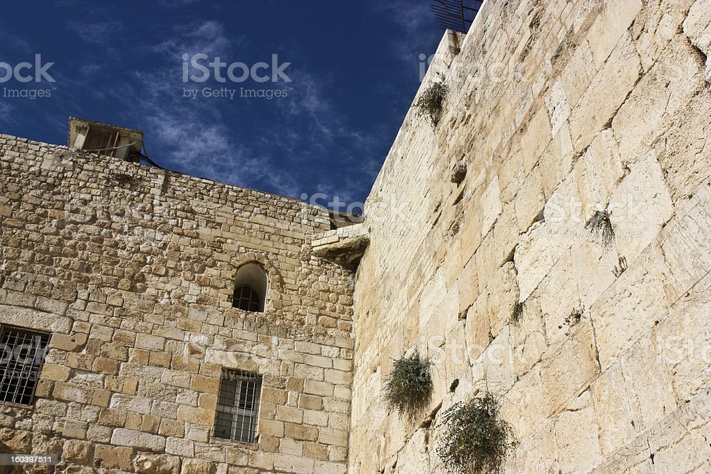 Western Wall, Jerusalem, Israel royalty-free stock photo
