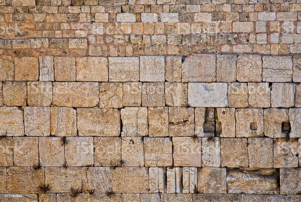 Western Wall. Jerusalem Israel stock photo