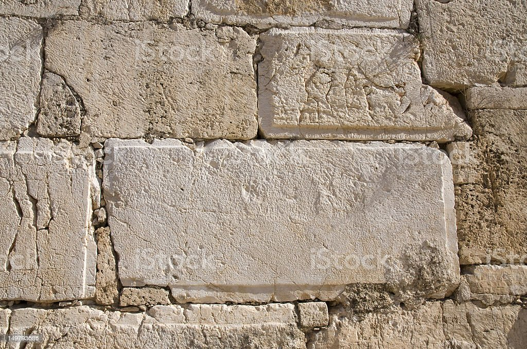 Western Wall, Jerusalem old city royalty-free stock photo