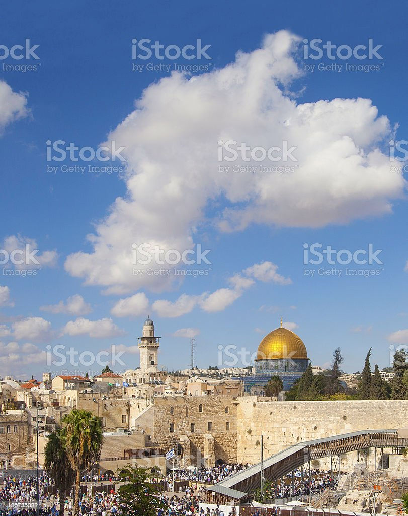 Western wall, Jerusalem royalty-free stock photo