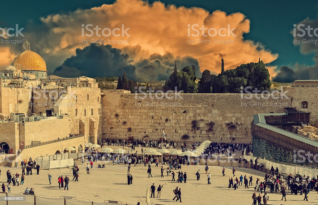 Western wall, Jerusalem stock photo
