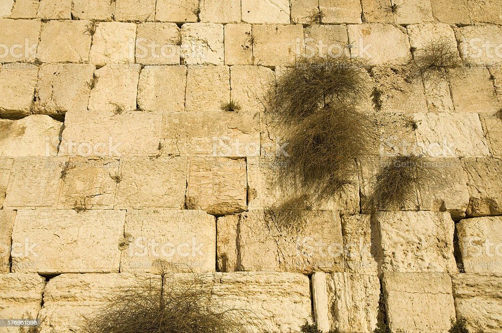 Western wall of Jerusalem stock photo
