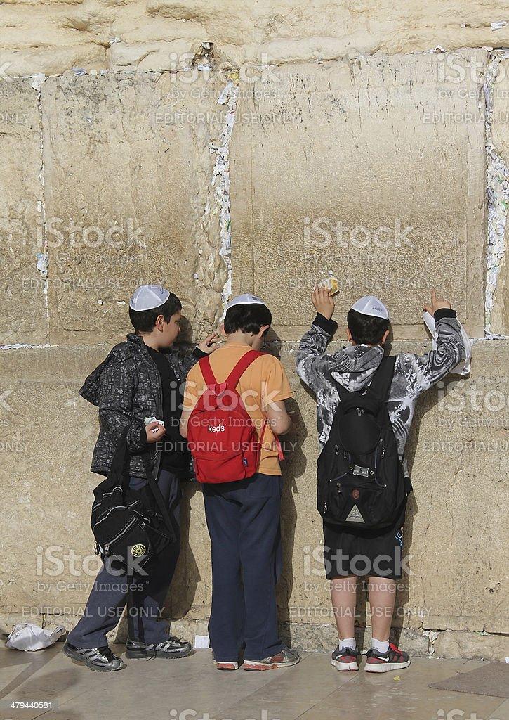 Western wall royalty-free stock photo