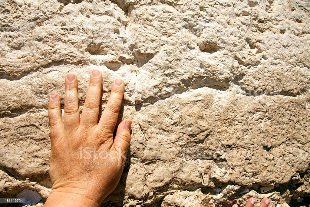 Western wall. stock photo