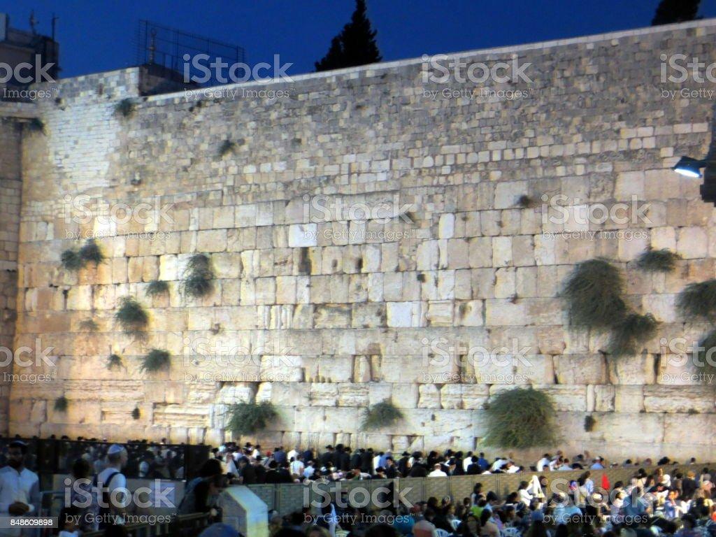 western wall stock photo