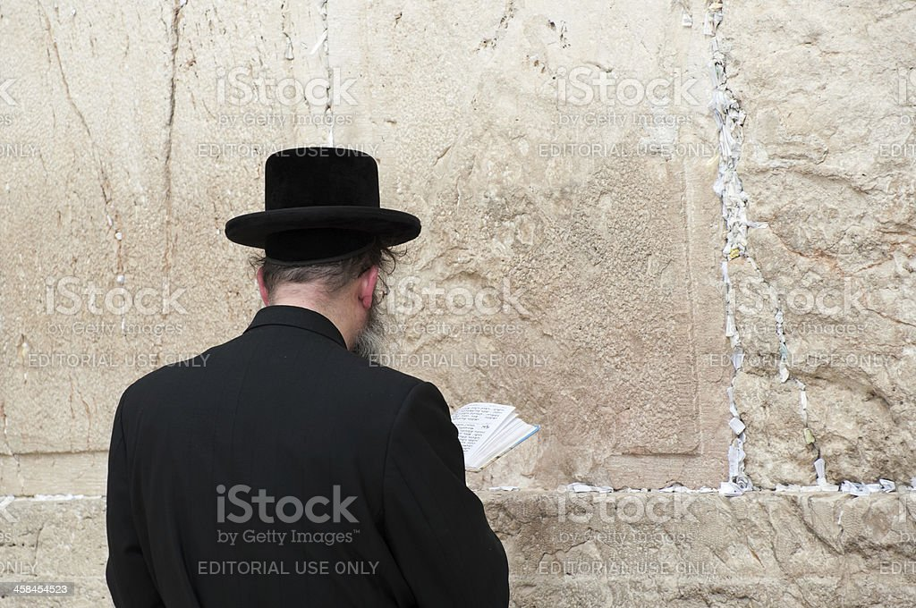 Western Wall praying royalty-free stock photo