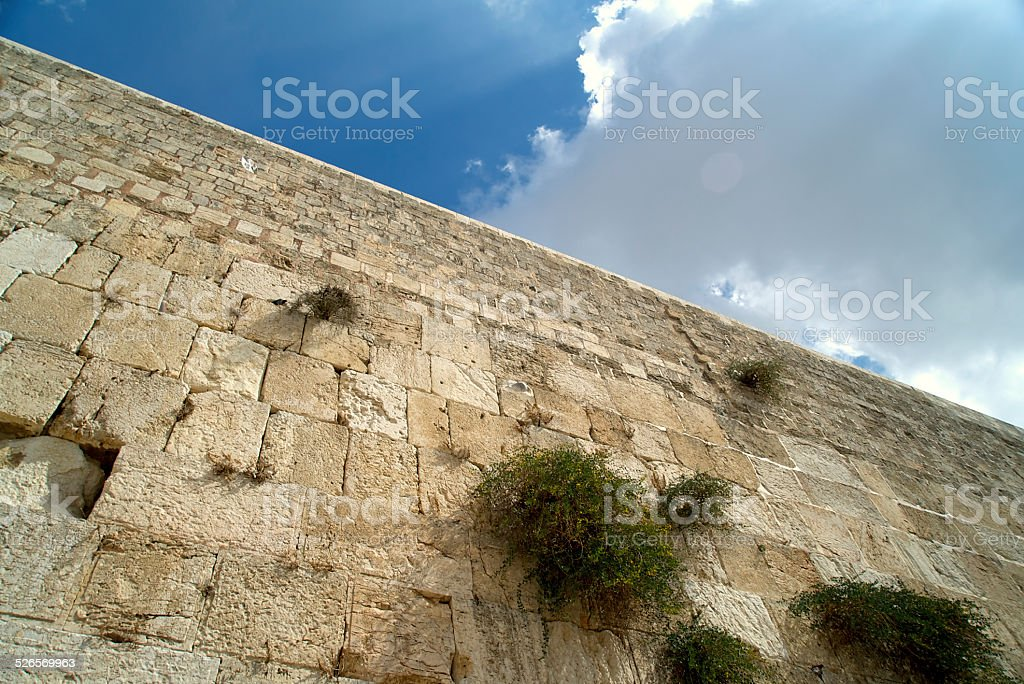 Western Wall Ray of Light stock photo