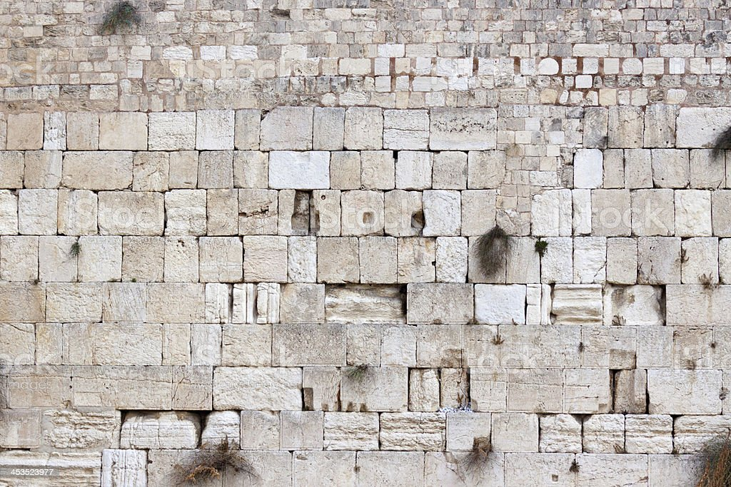 Western wall the Temple of Jerusalem royalty-free stock photo