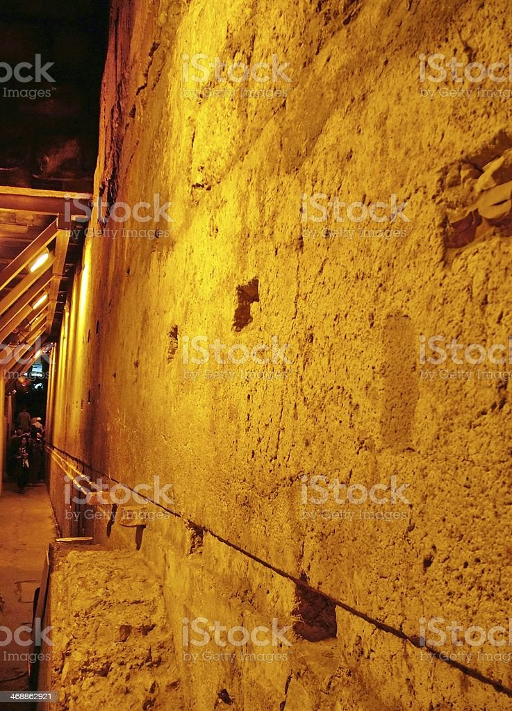 Western Wall Tunnel. Jerusalem. Israel stock photo