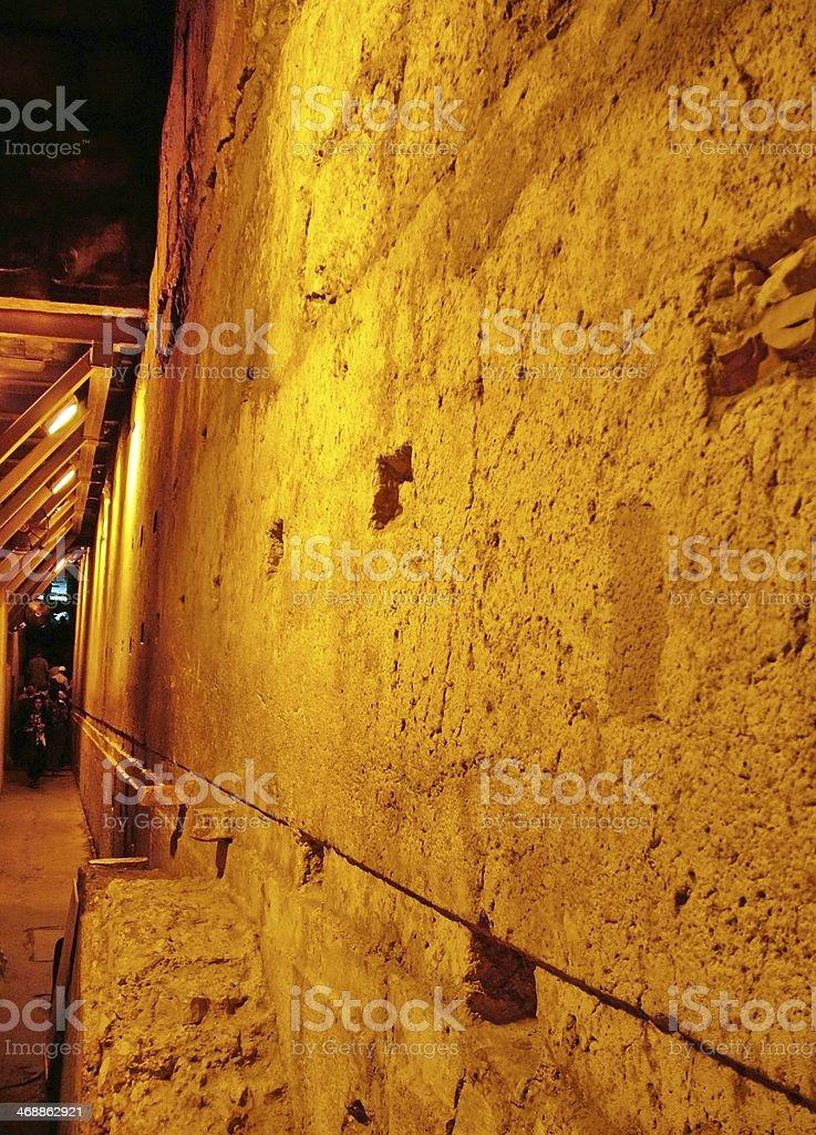 Western Wall Tunnel. Jerusalem. Israel stock photo