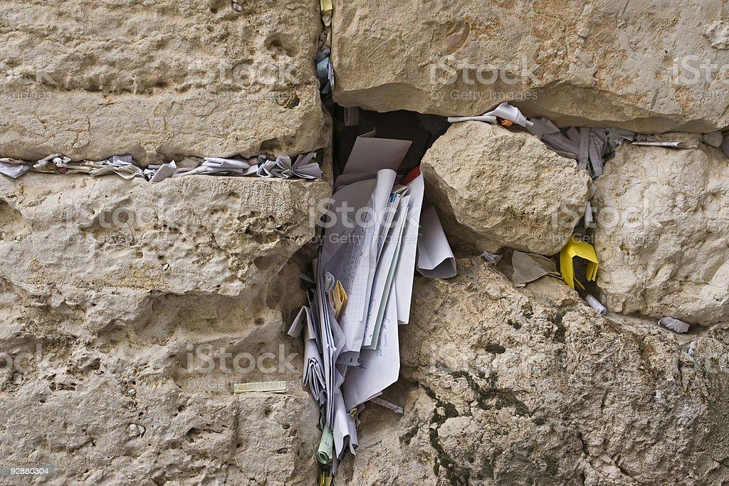 Western Wall-Holy City-Jerusalem royalty-free stock photo