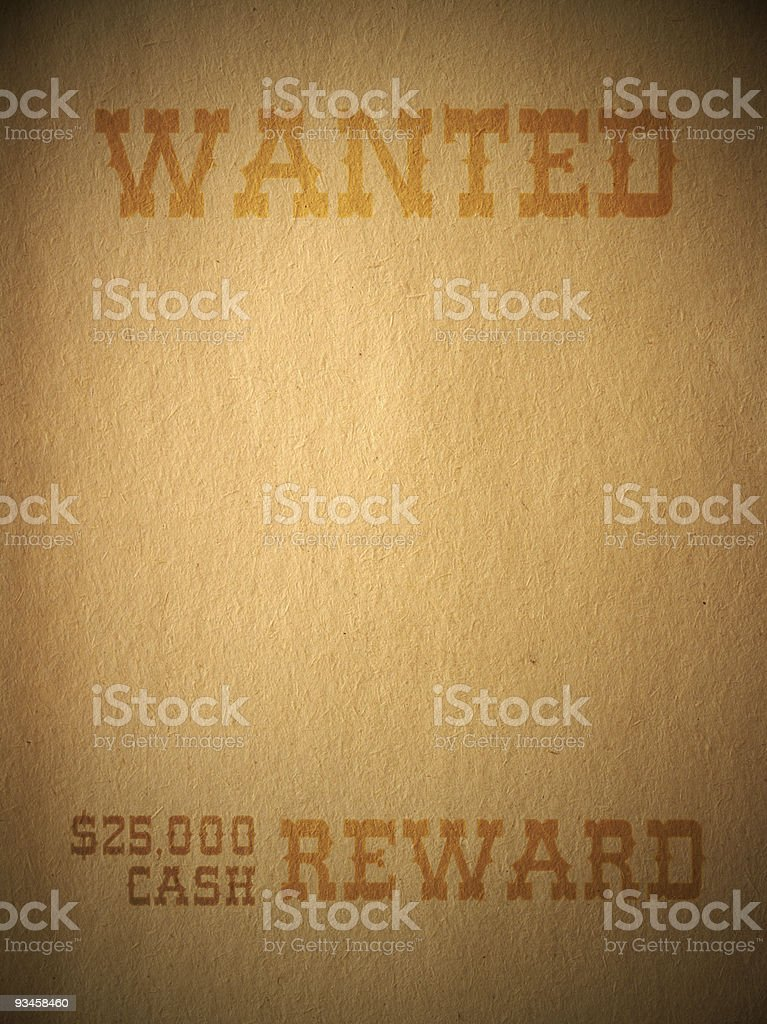 Western Wanted Sign royalty-free stock photo