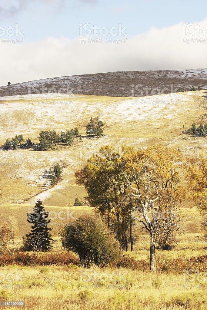 Western Wilderness Landscape Rolling Hills royalty-free stock photo