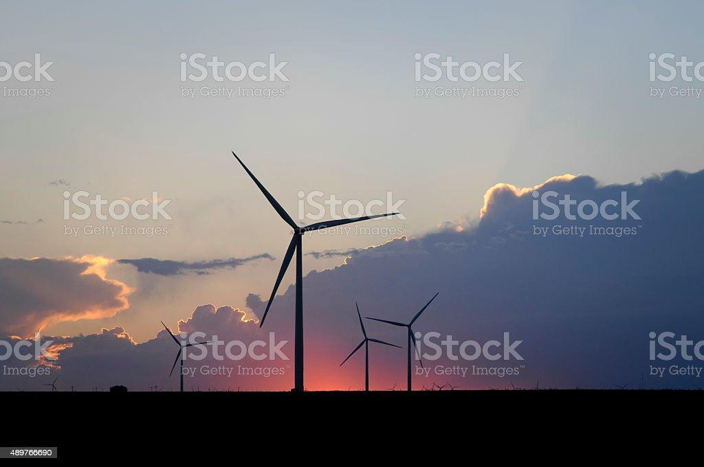 Western Wind Farm stock photo